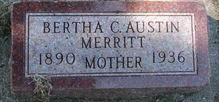AUSTIN MERRITT, BERTHA C. - Minnehaha County, South Dakota | BERTHA C. AUSTIN MERRITT - South Dakota Gravestone Photos