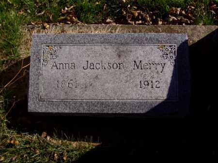 JACKSON MERRY, ANNA - Minnehaha County, South Dakota   ANNA JACKSON MERRY - South Dakota Gravestone Photos