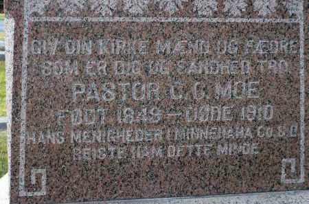 MOE, CHRISTIAN C. - Minnehaha County, South Dakota | CHRISTIAN C. MOE - South Dakota Gravestone Photos