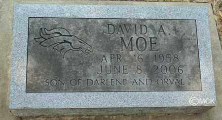 MOE, DAVID A. - Minnehaha County, South Dakota | DAVID A. MOE - South Dakota Gravestone Photos