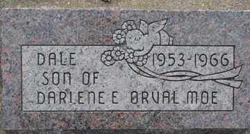 MOE, DALE - Minnehaha County, South Dakota | DALE MOE - South Dakota Gravestone Photos