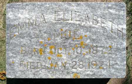 MOE, EMMA ELIZABETH - Minnehaha County, South Dakota | EMMA ELIZABETH MOE - South Dakota Gravestone Photos