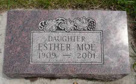 MOE, ESTHER - Minnehaha County, South Dakota   ESTHER MOE - South Dakota Gravestone Photos