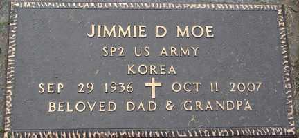 MOE, JIMMIE D. - Minnehaha County, South Dakota | JIMMIE D. MOE - South Dakota Gravestone Photos