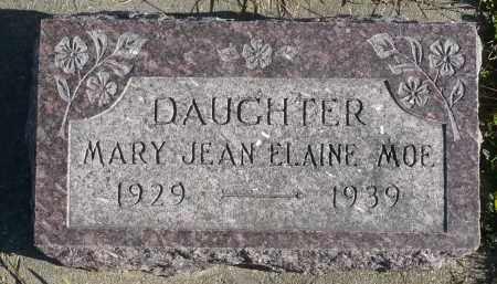 MOE, MARY JEAN ELAINE - Minnehaha County, South Dakota | MARY JEAN ELAINE MOE - South Dakota Gravestone Photos