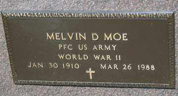 MOE, MELVIN D. (WWII) - Minnehaha County, South Dakota | MELVIN D. (WWII) MOE - South Dakota Gravestone Photos