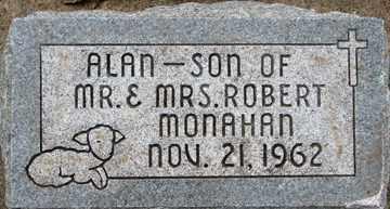 MONAHAN, ALAN - Minnehaha County, South Dakota   ALAN MONAHAN - South Dakota Gravestone Photos