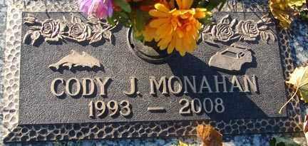 MONAHAN, CODY J. - Minnehaha County, South Dakota   CODY J. MONAHAN - South Dakota Gravestone Photos