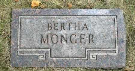MONGER, BERTHA - Minnehaha County, South Dakota   BERTHA MONGER - South Dakota Gravestone Photos