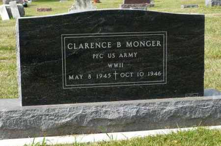 MONGER, CLARENCE B. - Minnehaha County, South Dakota | CLARENCE B. MONGER - South Dakota Gravestone Photos