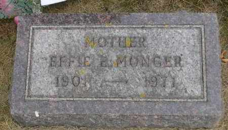 MONGER, EFFIE E. - Minnehaha County, South Dakota   EFFIE E. MONGER - South Dakota Gravestone Photos