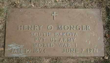 MONGER, HENRY O. - Minnehaha County, South Dakota | HENRY O. MONGER - South Dakota Gravestone Photos