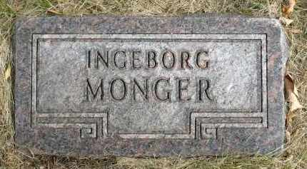 MONGER, INGEBORG - Minnehaha County, South Dakota | INGEBORG MONGER - South Dakota Gravestone Photos