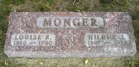 MONGER, HILDUR J. - Minnehaha County, South Dakota   HILDUR J. MONGER - South Dakota Gravestone Photos