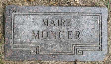 MONGER, MAIRE - Minnehaha County, South Dakota | MAIRE MONGER - South Dakota Gravestone Photos