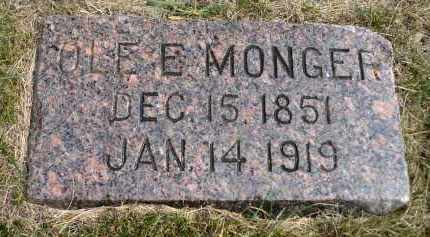 MONGER, OLE E. - Minnehaha County, South Dakota | OLE E. MONGER - South Dakota Gravestone Photos