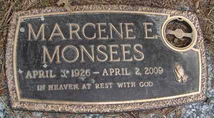 MONSEES, MARCENE E. - Minnehaha County, South Dakota | MARCENE E. MONSEES - South Dakota Gravestone Photos
