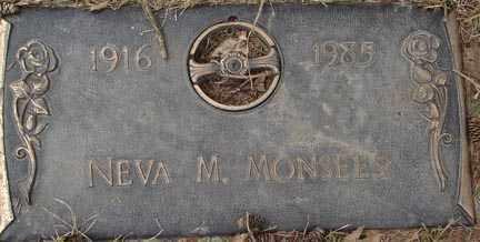 MONSEES, NEVA M. - Minnehaha County, South Dakota | NEVA M. MONSEES - South Dakota Gravestone Photos
