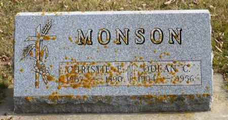 MONSON, CHRISTIE E. - Minnehaha County, South Dakota   CHRISTIE E. MONSON - South Dakota Gravestone Photos
