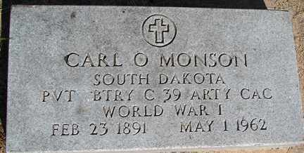 MONSON, CARL O. (WWI) - Minnehaha County, South Dakota | CARL O. (WWI) MONSON - South Dakota Gravestone Photos