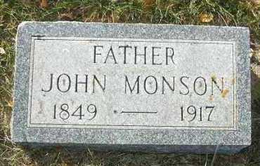 MONSON, JOHN - Minnehaha County, South Dakota   JOHN MONSON - South Dakota Gravestone Photos