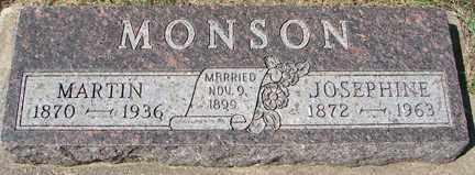 MONSON, JOSEPHINE - Minnehaha County, South Dakota | JOSEPHINE MONSON - South Dakota Gravestone Photos