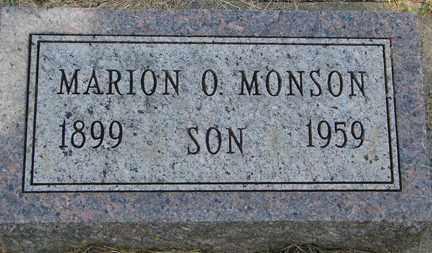 MONSON, MARION O. - Minnehaha County, South Dakota | MARION O. MONSON - South Dakota Gravestone Photos