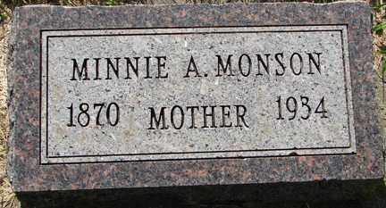 MONSON, MINNIE A. - Minnehaha County, South Dakota | MINNIE A. MONSON - South Dakota Gravestone Photos