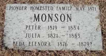 MONSON, JULIA - Minnehaha County, South Dakota | JULIA MONSON - South Dakota Gravestone Photos
