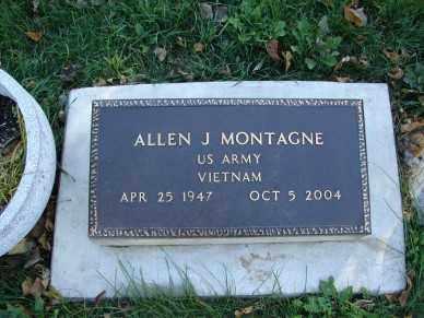 MONTAGNE, ALLEN J. - Minnehaha County, South Dakota | ALLEN J. MONTAGNE - South Dakota Gravestone Photos