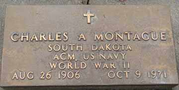 MONTAGUE, CHARLES A. (WWII) - Minnehaha County, South Dakota | CHARLES A. (WWII) MONTAGUE - South Dakota Gravestone Photos