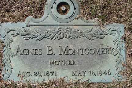 MONTGOMERY, AGNES B. - Minnehaha County, South Dakota   AGNES B. MONTGOMERY - South Dakota Gravestone Photos