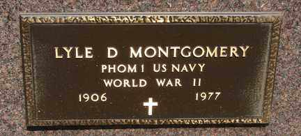 MONTGOMERY, LYLE D. - Minnehaha County, South Dakota   LYLE D. MONTGOMERY - South Dakota Gravestone Photos