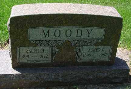 MOODY, AGNES G. - Minnehaha County, South Dakota   AGNES G. MOODY - South Dakota Gravestone Photos