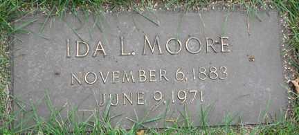 MOORE, IDA L. - Minnehaha County, South Dakota   IDA L. MOORE - South Dakota Gravestone Photos