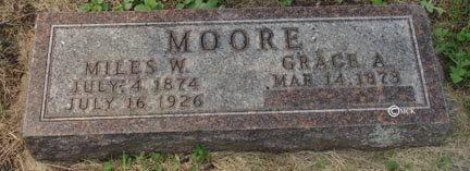 MOORE, GRACE A. - Minnehaha County, South Dakota | GRACE A. MOORE - South Dakota Gravestone Photos