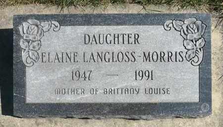 LANGLOSS MORRIS, ELAINE EMILIE - Minnehaha County, South Dakota   ELAINE EMILIE LANGLOSS MORRIS - South Dakota Gravestone Photos