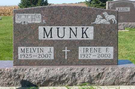 MUNK, IRENE F. - Minnehaha County, South Dakota | IRENE F. MUNK - South Dakota Gravestone Photos