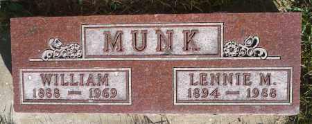 MUNK, WILLIAM - Minnehaha County, South Dakota | WILLIAM MUNK - South Dakota Gravestone Photos