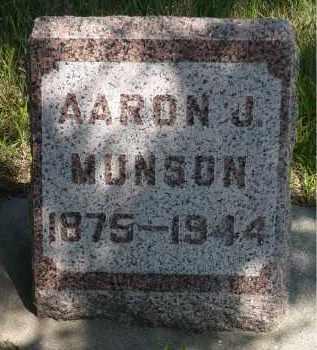 MUNSON, AARON J. - Minnehaha County, South Dakota | AARON J. MUNSON - South Dakota Gravestone Photos