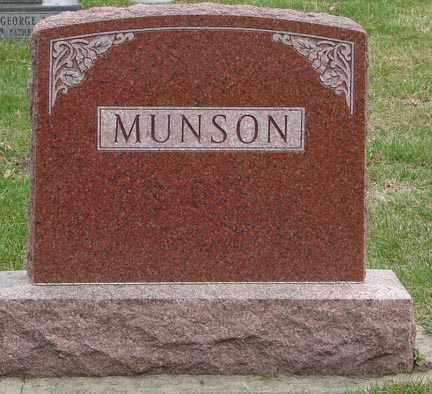 MUNSON, HEADSTONE - Minnehaha County, South Dakota | HEADSTONE MUNSON - South Dakota Gravestone Photos