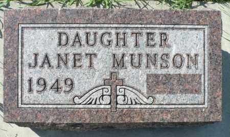 MUNSON, JANET - Minnehaha County, South Dakota | JANET MUNSON - South Dakota Gravestone Photos
