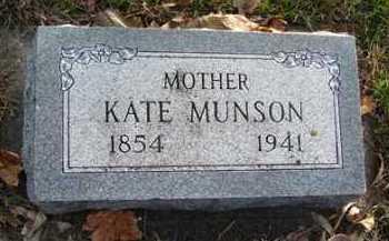 MUNSON, KATE - Minnehaha County, South Dakota   KATE MUNSON - South Dakota Gravestone Photos