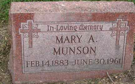 MUNSON, MARY A. - Minnehaha County, South Dakota   MARY A. MUNSON - South Dakota Gravestone Photos