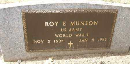 MUNSON, ROY E. - Minnehaha County, South Dakota | ROY E. MUNSON - South Dakota Gravestone Photos