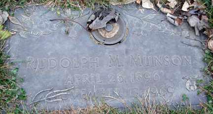 MUNSON, RUDOLPH M. - Minnehaha County, South Dakota | RUDOLPH M. MUNSON - South Dakota Gravestone Photos