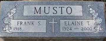 MUSTO, FRANK SALVATORE - Minnehaha County, South Dakota   FRANK SALVATORE MUSTO - South Dakota Gravestone Photos