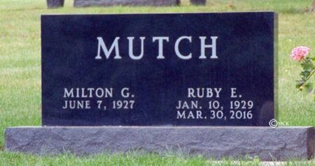MUTCH, RUBY E. - Minnehaha County, South Dakota | RUBY E. MUTCH - South Dakota Gravestone Photos