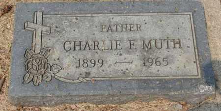 MUTH, CHARLIE F. - Minnehaha County, South Dakota | CHARLIE F. MUTH - South Dakota Gravestone Photos