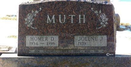 MUTH, JOLENE J. - Minnehaha County, South Dakota | JOLENE J. MUTH - South Dakota Gravestone Photos
